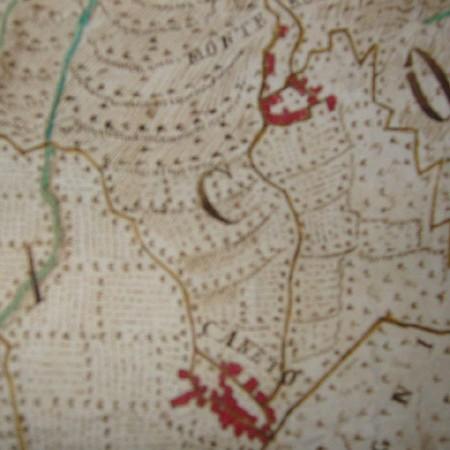 11 Particolari della carta con i nuclei di Monterolo e Caneto