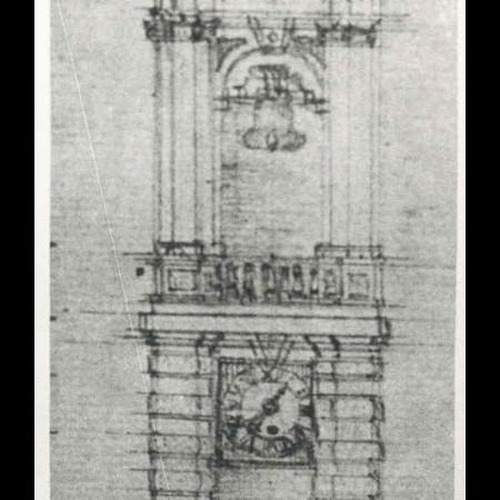 16 - Il disegno per il campanile di Groppoli del Vinzoni.
