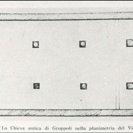 17 - La Chiesa antica di Groppoli nella planimetria del Vinzoni.