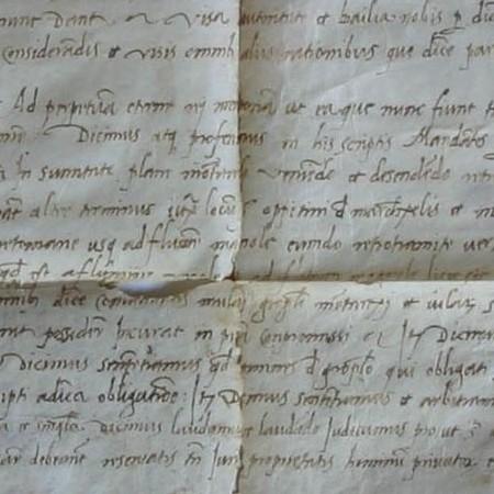 Pergamena quattrocentesca sulle prerogative feudali