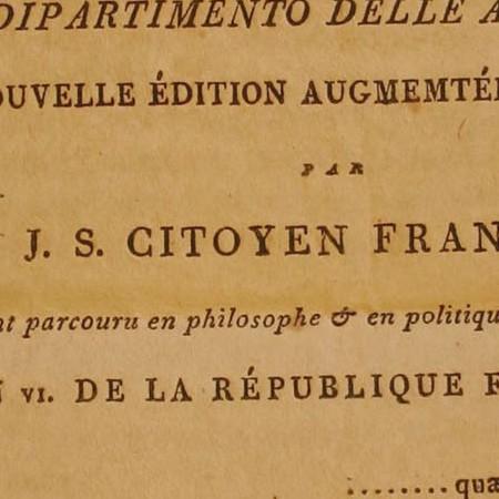 Atto di salvaguardia di Bonaparte a favore dei feudatari Malaspina di Fosdinovo e di Mulazzo