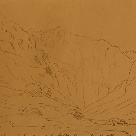 Vista del Callejon de la Guardia sul pendio occidentale della cordigliera
