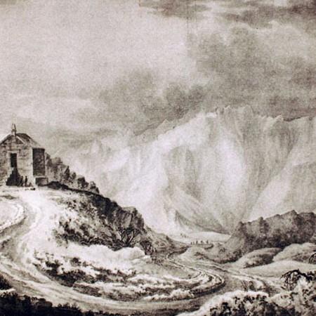 Casa sulla vetta lungo il percorso principale della cordigliera
