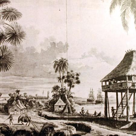 Veduta di una torre e parte del popolo di Zamboanga