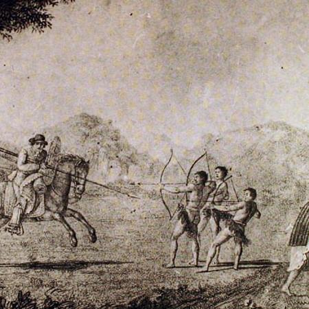 Modo di combattere degli indigeni della California