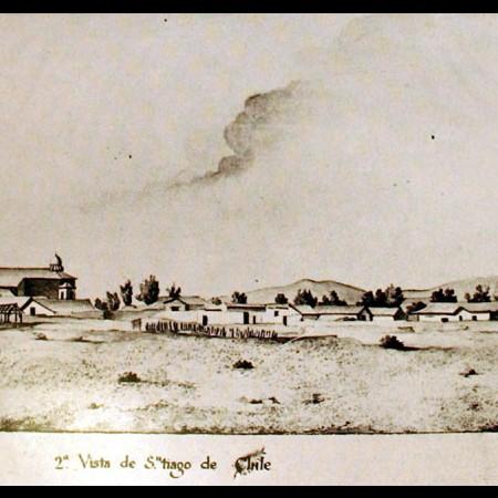 Veduta di Santiago e di parte della vallata di Mapocho