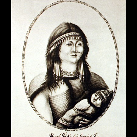Moglie di Tetaku con bambino