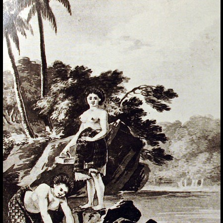 Donne che pescano frutti di mare
